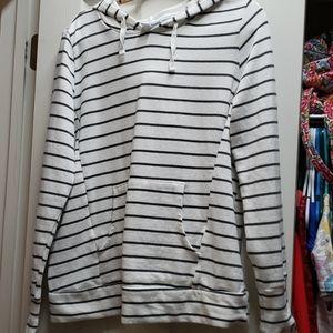 L maternity fleece hooded pullover